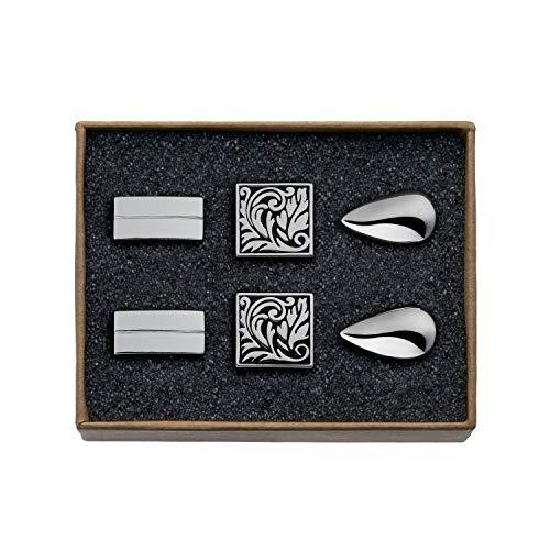 Valdero® Silver Starter manchetknopen voor heren, in doos