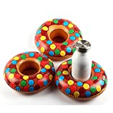 JimAndAlice 3 unids/Lote Donuts Inflable Agua Bebida portavasos Flotante para Piscina PVC Inflable Posavasos de Agua decoración de Fiesta en la Playa