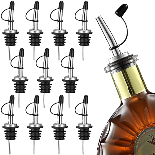 Aozita Bottle Pourers 12 Pack, Stainless Steel Liquor Pourers with...