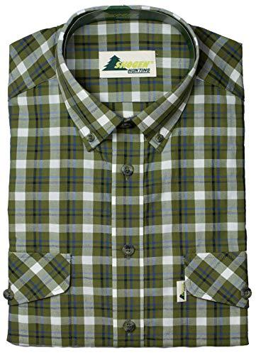 OSB Skogen® Karohemd Herren Outdoorhemd mit 2 Brusttaschen Jagdhemd Forsthemd aus 100% Baumwolle Passform: Modern Fit von oefele.de (41/42)