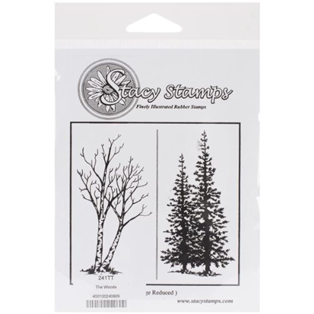 Stacy Stamps 241TT Cling Mounted Stamp, 3.5 by 2-Inch, The Woods