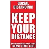Josopa - Adesivi per pavimenti, 12 pezzi, motivo: distanza sociale