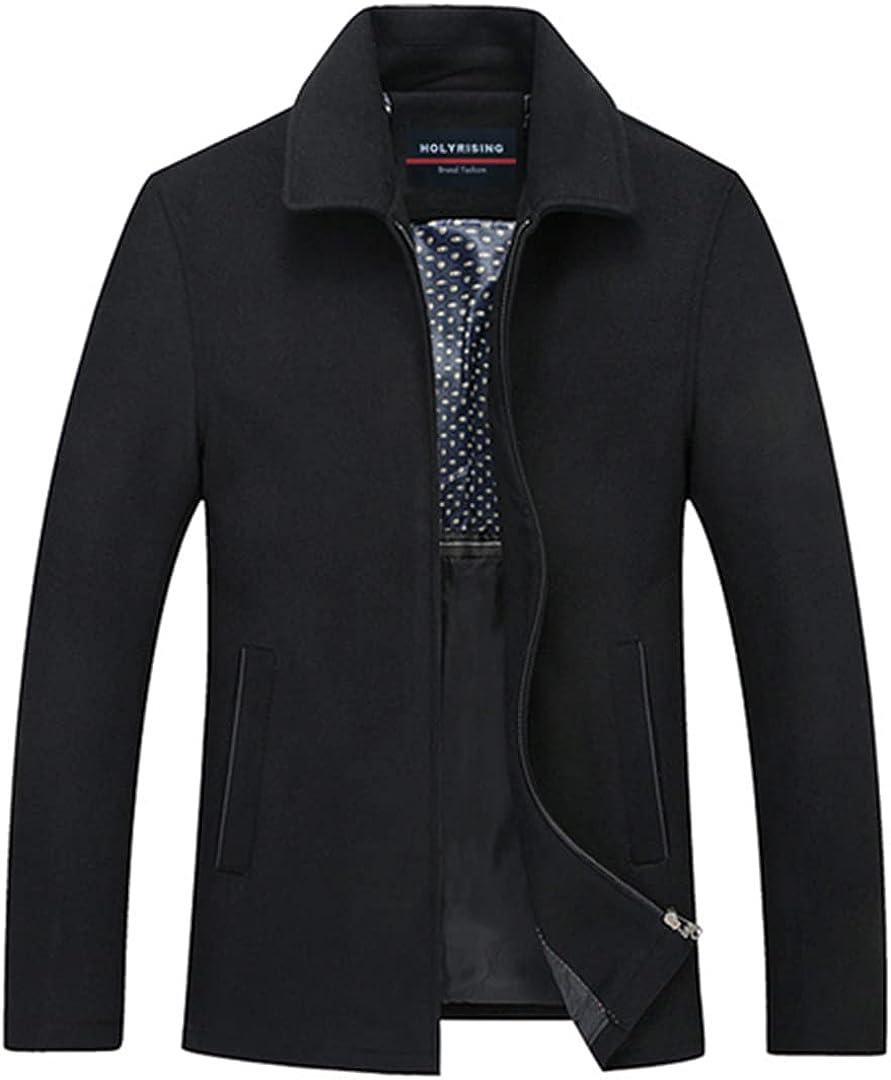 Men Peacoat Mens Jackets And Coats Male Wool Coat Chaqueta Hombre Wool & Blends