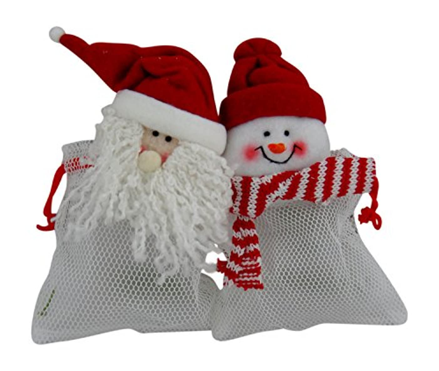 Christmas Santa & Snowman Candy Treat Gift Bags, 3 Sets of 2 Packs