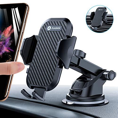 andobil Handyhalter fürs Auto Handyhalterung Lüftung & Saugnapf Halterung 3 in 1 Universale KFZ Handyhalterung Smartphone Halterung für iPhone 12/12 Pro/ 11/Samsung S20/ S10 Huawei Xiaomi LG usw