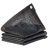 Toldo Vela Triangular SombraMalla de sombrilla negra del 90%, malla de protección for exteriores de red de protección solar con engrosamiento de cifrado, malla de aislamiento térmico de techo de balcó