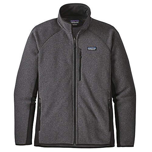 Patagonia M's Performance Better Sweater Jkt, Giacca Uomo, Grigio/Nero (Forge Grey w/Black), M
