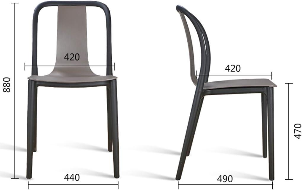 Chaise de salle à manger SLL- Chaise de Dossier Moderne Simple Moderne (Color : D) F
