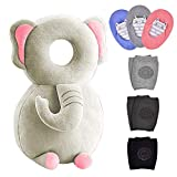 7 Pack Baby Head Protector 1 & Baby Knee Pads for Crawling 3 Pairs & Baby Socks 3 Pairs,Baby Walking Suit, Elephant