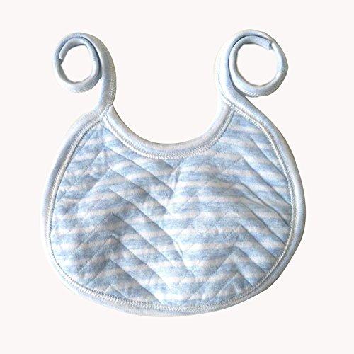 Demarkt 1pcs Coton bébé Fournitures en Gros Bavoir bébé Coton Serviette salive Nouveau-né Coton imperméable Enfants 7cm*14cm (Bleu