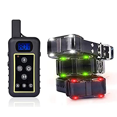 GROOVYPETS 2400 YD Remote Dog Training Shock Collar Hunting Pet Trainer Correction Collar Waterproof Rechargeable for Medium,Large Dog (3-Dog Model)