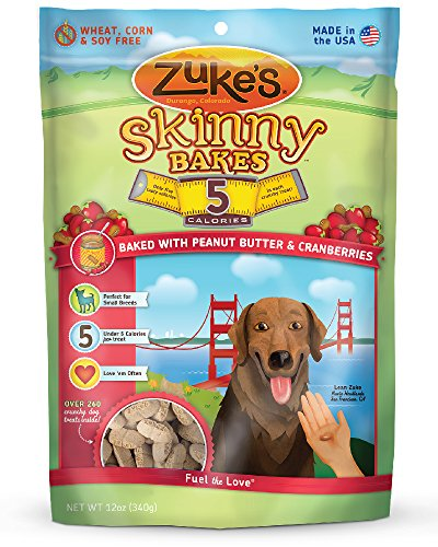Zuke'S Skinny Bakes Dog Treats, Peanut Butter And Cranberries, 5-Calories, 12-Ounce