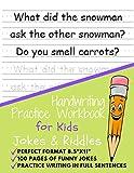 Handwriting Practice Workbook for Kids Jokes and Riddles: 100 Funny Jokes to Practice Handwriting, Practice writing in full sentences