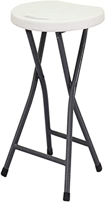 Amazon.com: bar stool Folding High Stool Steel Frame PU Seat ...