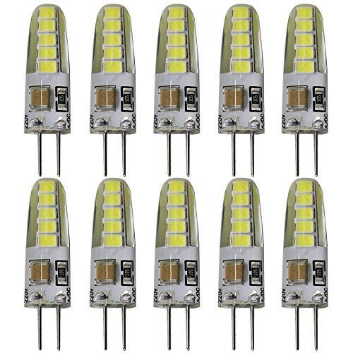 10er Pack, g4 led lampe Kaltweiß 3 Watt 230 Volt, 3W Ersetzt 30Watt leuchtmittel,6000K, 300lm,Lampe,Glühlampen, Bitte Beachten< 230V Leuchtmittel nicht geeignet für 12V Trafo Lampen