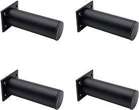Set van 4 NUZAMAS Verstelbare Matt Zwarte Meubelpoten, 38x120mm Aluminium Gemaakte, Kast Koffietafel TV Stand Benen, Meube...