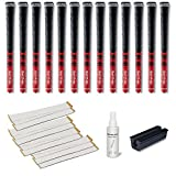 Golf Pride New Decade Multicompound (MCC) Midsize Red - 13 pc Golf Grip Kit (with Tape, Solvent, Vise clamp)