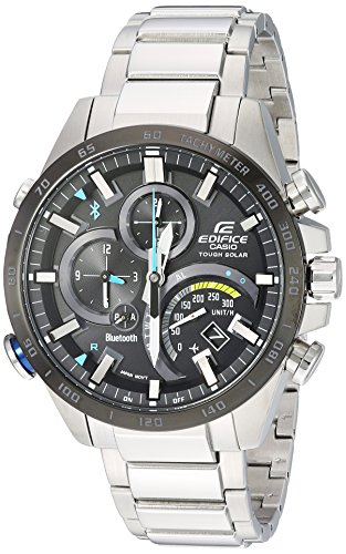 Casio Men's Edifice Connected Quartz Watch with Stainless-Steel Strap, Silver, 14 (Model: EQB-501XDB-1ACF)