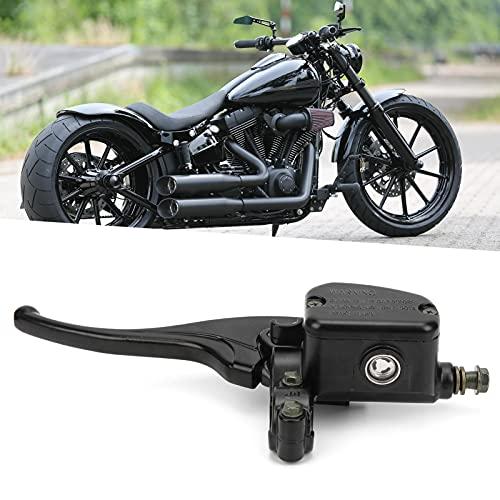 Bomba de embrague para motocicleta, material de aleación de aluminio, palanca de manija de embrague fácil de ver con manillar de 7/8 pulgadas para motocicleta