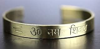 Om Namah Shivay Namo Shivaya brass healing bracelet   God Shiva   Shivoham   Blessed & Energized   US Seller