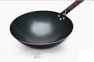 Zhangqiu Handmade Wok Officiel Flagship Forged Old-fashioned Wok Cuisson Non Revêtue Cuisinière à Gaz Domestique Antiadhés...