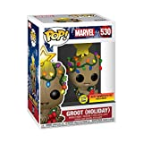 Funko POP! Marvel Holiday Groot with Lights (Glow in the Dark), Exclusive