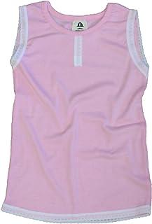 ノーブランド子供服 レース付きタンクトップ ピンク ブラック(黒)