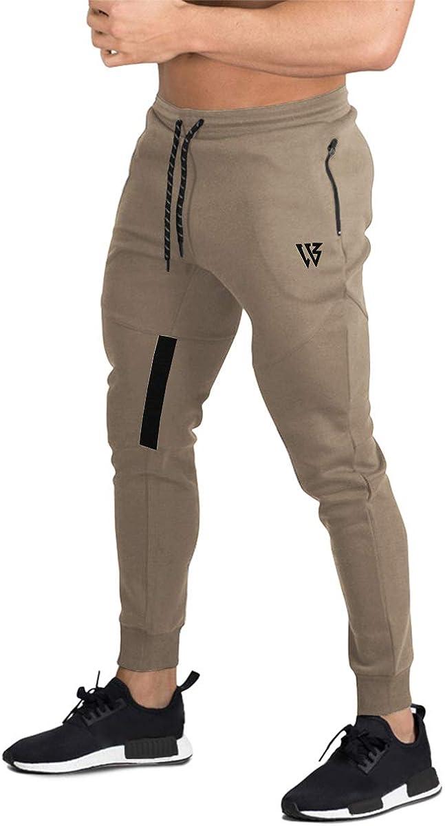 BROKIG Pantalones de Chándal de Gimnasio para Hombre Joggers Vertex para Jogging Pantalones para Correr con Bolsillos