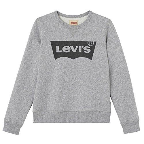 Levi's Kids Jungen Sweat NOS BATWI Sweatshirt, Grau (Gris Chine 20), 176 (Herstellergröße: 16A)