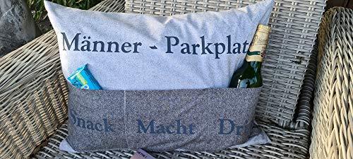 Juego de costura, cojín, parque masculino, con letras de plóter listas para planchar