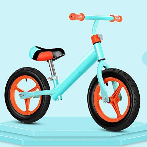 SHYSBV Bicicleta Sin Pedales Balance Scooter Sin Pedal Scooter Bicicleta-Rueda Hinchable Azul Integrada_12