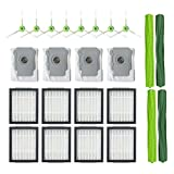 ANBOO Replacement Parts Kit for iRobot Roomba i7 i7+ Plus Vacuum,2 Set Multi-Surface Rubber Brushes & 8 High- Efficiency HEPA Filters & 8 Edge-Sweeping Side Brushes & 4 Dirt Disposal Bags