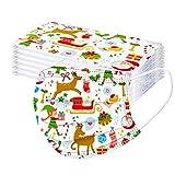 jfhrfged Niños Protección 3 Capas Transpirable Antipolvo Desechable Impresión de Navidad con Elástico para Los Oídos Pack 50 unidades-jfhrfged-082820 (Multicolor 5)