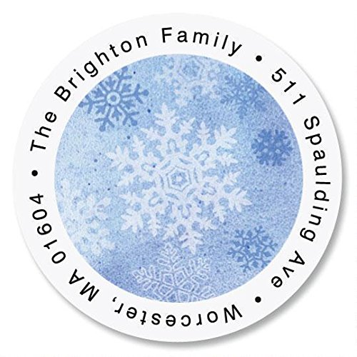Christmas Return Address Labels Return Address Stickers #412-L-WH Snowflake Return Address Stickers