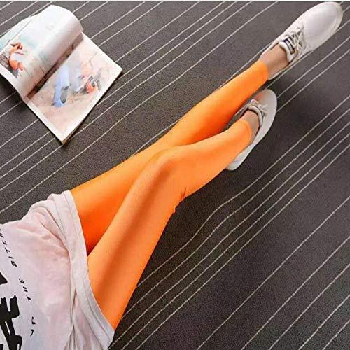 Leggings Damen Hose Solid Candy Leggings Für Frauen High Stretched Female Legging Pants Mädchen Kleidung Leggins M Orange