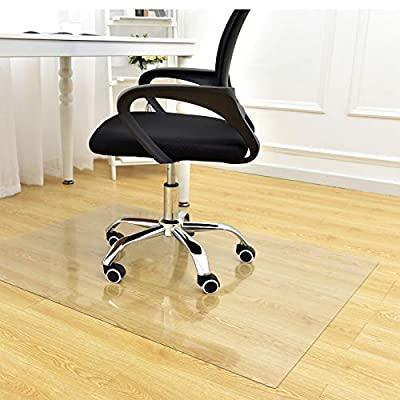 "Facecozy Office Chair Mat for Hardwood Floor or Carpet Tiles 2mm Thick Desk Chair Mat for Floor Protectors for Office Chairs, Office Mat, Office Mats for Rolling Chairs (47"" x 35"", Hard Floor-Clear)"
