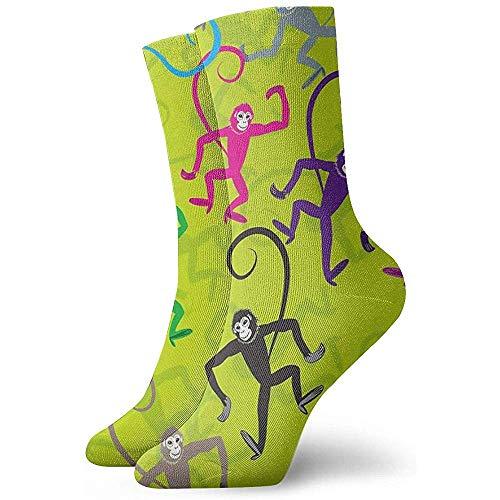 Adamitt Neuheit lustige verrückte Crew Socke lustige tanzende Affe gedruckt Sport athletische Socken 30 cm lange personalisierte Geschenk Socken