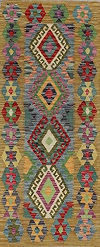 Mollaian Rug Kilim Kaudani Melange - Alfombra de pasillo (178 x 71 cm)
