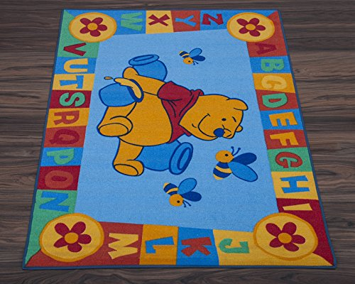 Disney tappeto da pavimento per bambini, motivo Winnie the Pooh blu
