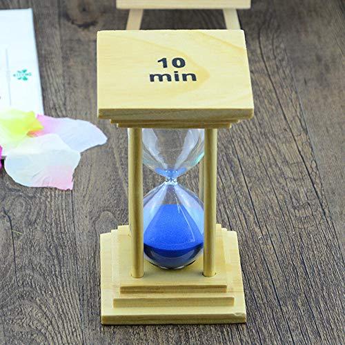 cronómetro Diez minutos de tiempo base de madera reloj de arena-Plaza temporizador