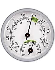 Gazechimp Higrómetro/Termómetro para Interiores Y Exteriores, Indicador de Humedad, Monitor de Temperatura Y Humedad, Higrómetro Analógico, Humidor