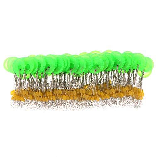 Sharplace 100 x Angeln Fischen Gummistopper - Gelb, S