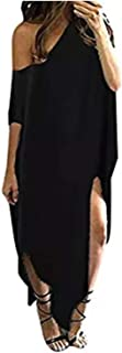 Women Maxi Dress Striped Long Dresses Casual Loose Kaftan...