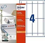 AVERY - Pochette de 40 porte-noms imprimables, En carte blanche 190g/m², Format 120 x 45 mm, Impression laser / jet d'encre, (L4794-10)