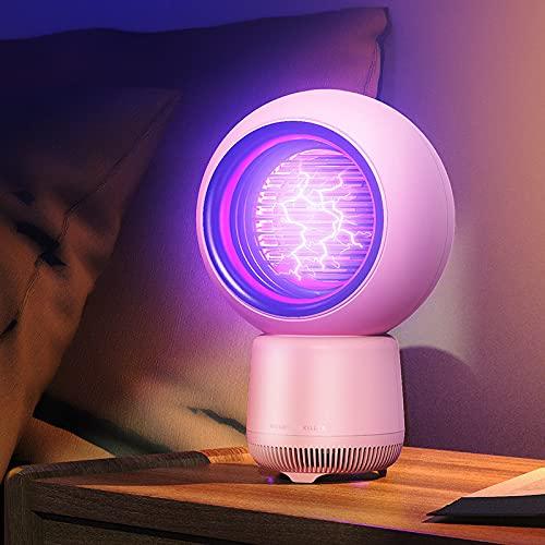 LEERAIN Lámpara antimosquitos, giratoria 360 grados, repelente de mosquitos inalámbrico Zapper 30 dB, batería USB silenciosa para dormitorio