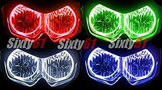 Sixty61 Headlight Halos for Honda CBR 600 F4i 2001-2007 CCFL Angel Eyes light ring kit (green)