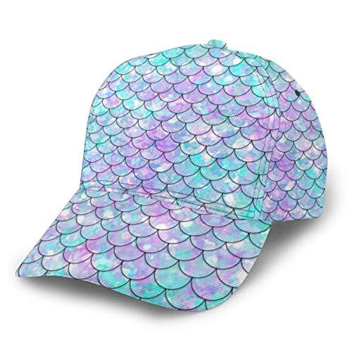 Gorra de béisbol unisex Ocean Blue Teal Mermaid Fish Scales