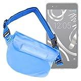 DURAGADGET Riñonera Azul para BQ Aquaris X5 Cyanogen Edition - Resistente Al Agua Playa Y Piscina!