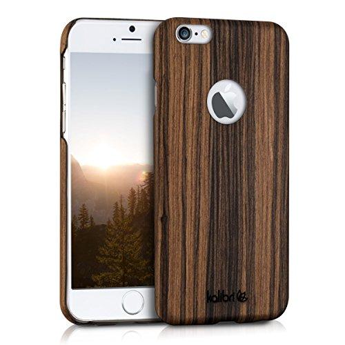 kalibri Hülle kompatibel mit Apple iPhone 6 / 6S - Handy Holz Schutzhülle - Slim Case Handyhülle Braun