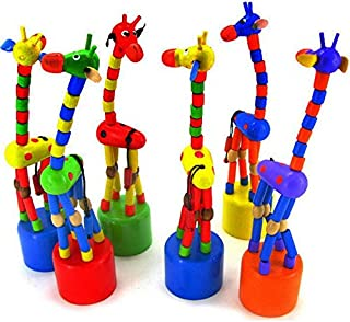 Lindou Baby Kids Wooden Toys Swing Animals Thumb Toys Random Color